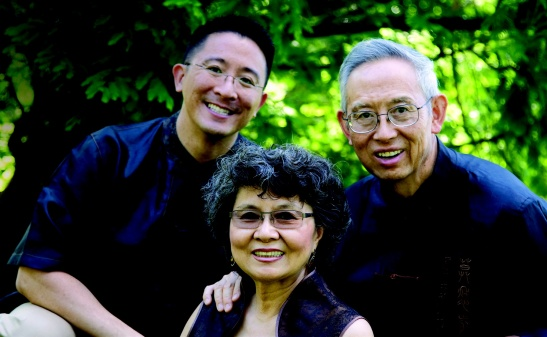 Christopher Yuan with his mother, Angela, and father, Leon