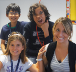Jessica with three of her students.