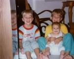 Dan, Joey and Katie, 1989