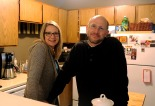Jeff and Jill in their Timber Lake kitchen