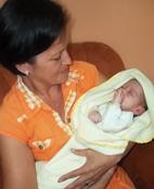Maria José with baby Adrián