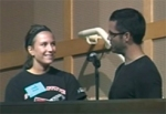 Lyndsay, with Community Life Pastor Ted Coniaris, just before her baptism
