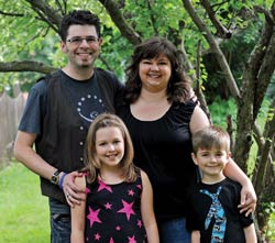 Jason Benner and his wife, Wende; daughter, Emmie; and son, Avery.