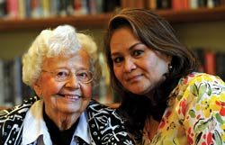 Mary Ann Roa and Ernestine Scull—a member of WBC for more than 50 years