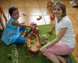Angela Raske with a Casa Viva child.