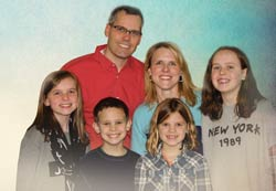 Brett and Kristy Lucas, with their children (left to right), Annie (12), Micah (10), Abby (8), and Lauren (14).