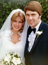 Wedding day for Mark and Sharon in June of 1982