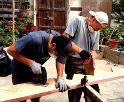Tradesmen from our WBC GO Team built stairs for the new church sanctuary in Puerto Supe, Peru, where our missionaries Cesar and Grace Cubas serve.