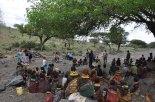 Turkana - worship gathering at riverbed (2)