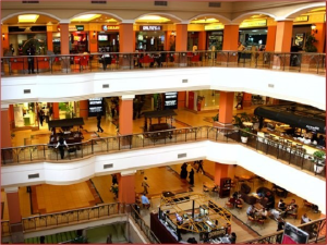 Interior of Nairobi's bustling Westgate Mall before the September 2013 attack