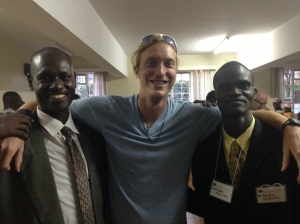 Kyle with Pastor Benjamin and Pastor Callistas