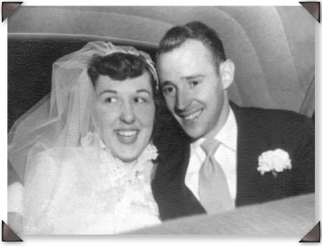 Martha and Floyd on their wedding day, March 22, 1952