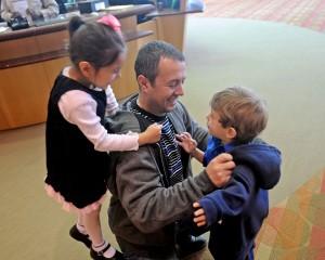 Orjon with kids